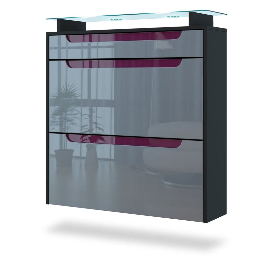 Summer scarpiera nera moderna mobile per entrata ingresso - Scarpiera moderna design ...