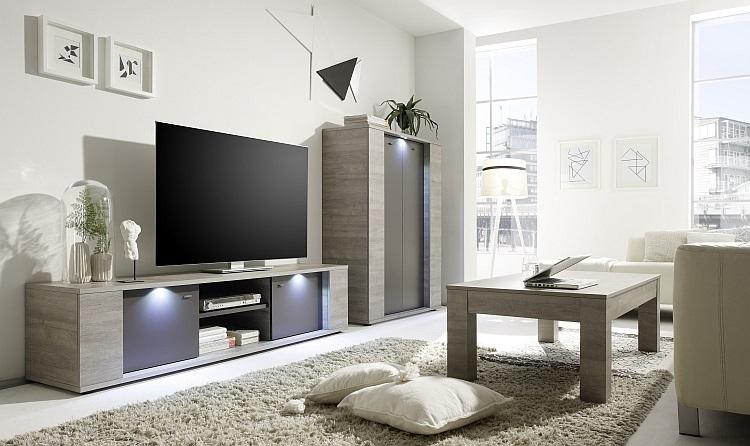 Porta tv moderno astro g20 mobile per tv grigio soggiorno - Mobile salotto tv ...
