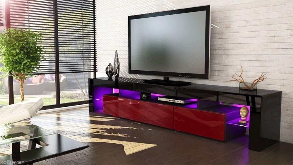 Vivaldi porta tv moderno nero frontali in 13 colori mobile - Porta tv nero ...