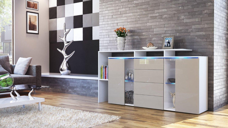Credenza moderna Lecce, madia con led, mobile soggiorno di design