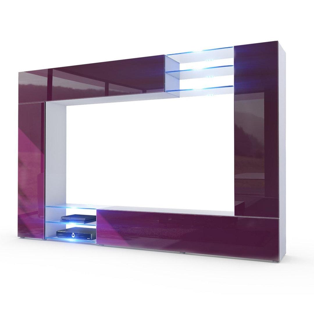 Wast parete porta tv moderno mobile soggiorno in 13 finiture - Wohnwand porta ...