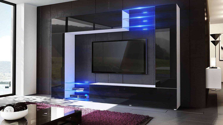 Wast parete porta tv moderno mobile soggiorno in 13 finiture for Mobile divisorio soggiorno