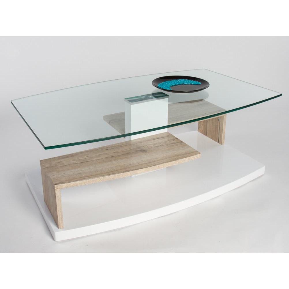 Tavolino moderno maxime cm 110x65x40 piano in vetro - Tavolino soggiorno ...