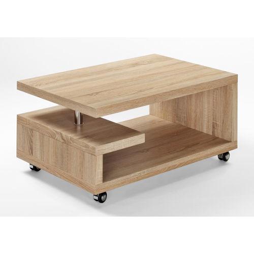 Tavolino Soggiorno Design Moderno Con Piano Centrale In Vetro Bianco ...