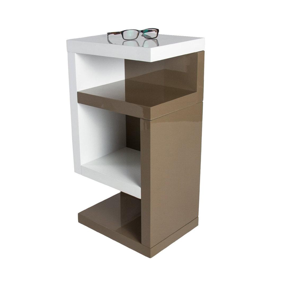 Tavolino Vano A Giorno Copenaghen : Tavolino moderno herman cm corpo bianco e toupe