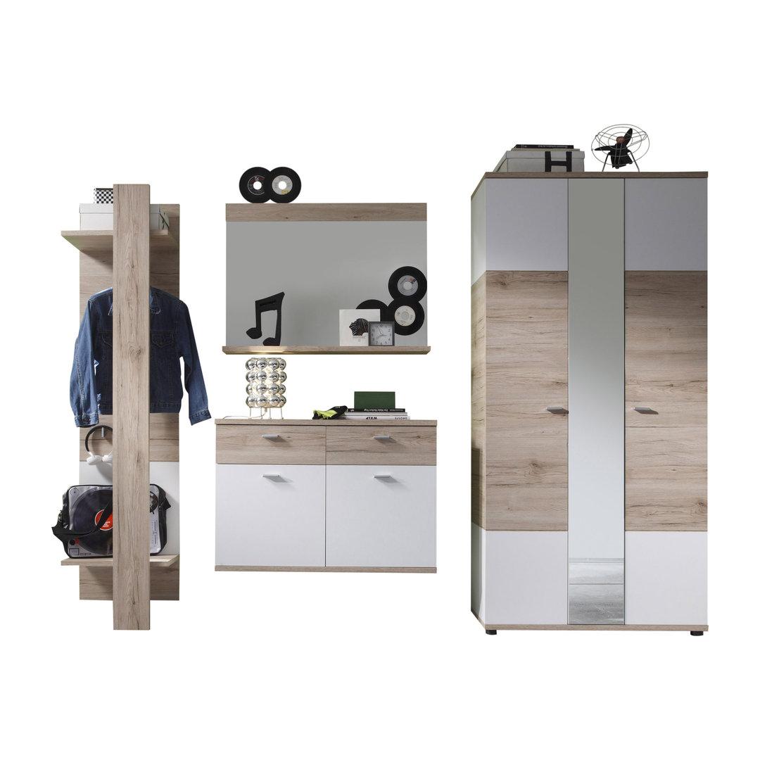Better 2 entrata moderna elegante, mobili ingresso design colore bianco e  rovere