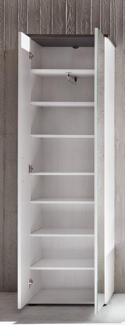 Armadio moderno demy mobile per ingresso o corridoio bianco con specchio arredions - Armadio specchio ingresso ...