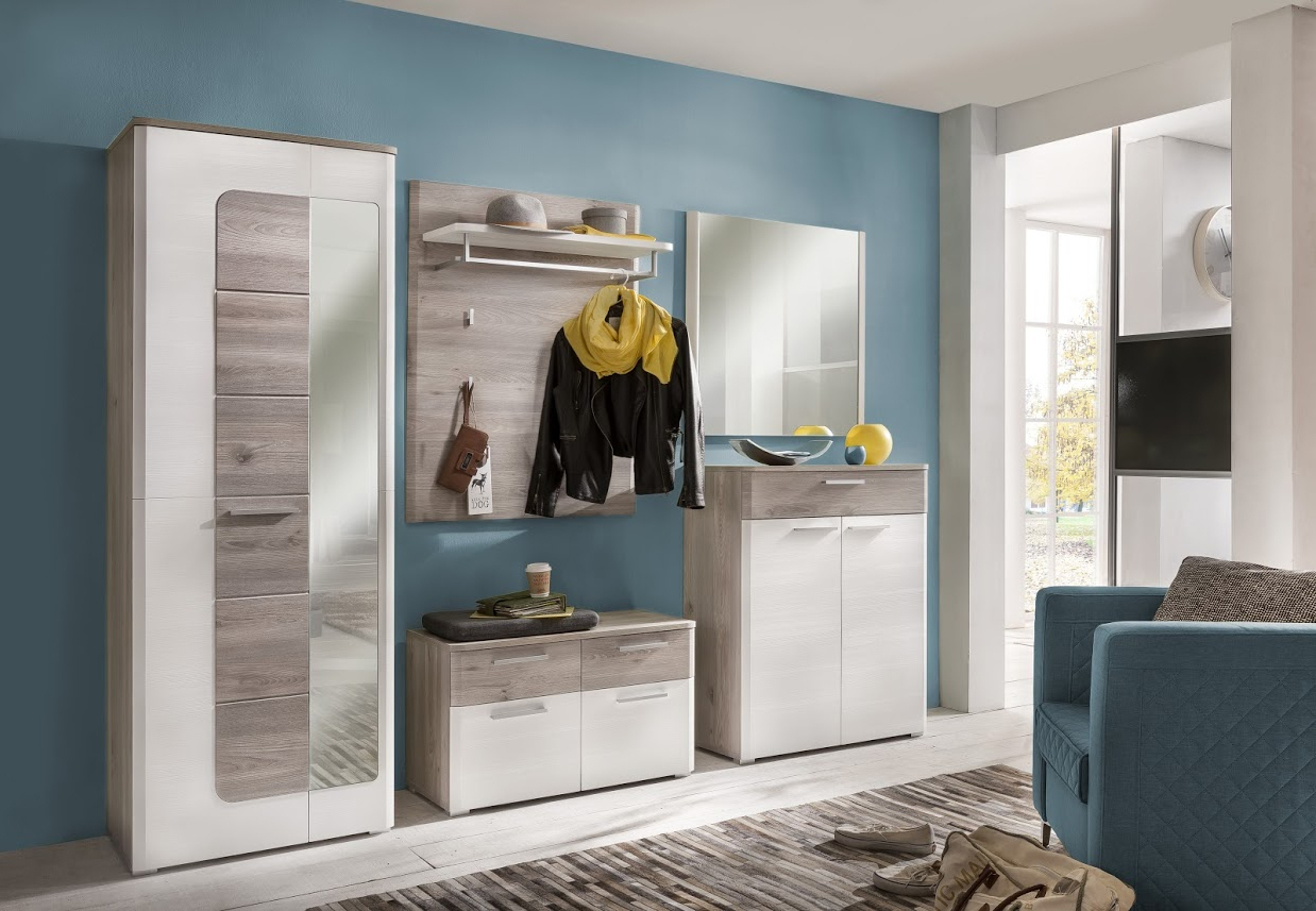 Entrata moderna duncan mobili per corridoio finitura rovere - Mobili per corridoio ...