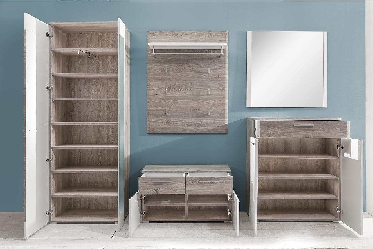 Entrata moderna Duncan, mobili per corridoio, finitura rovere