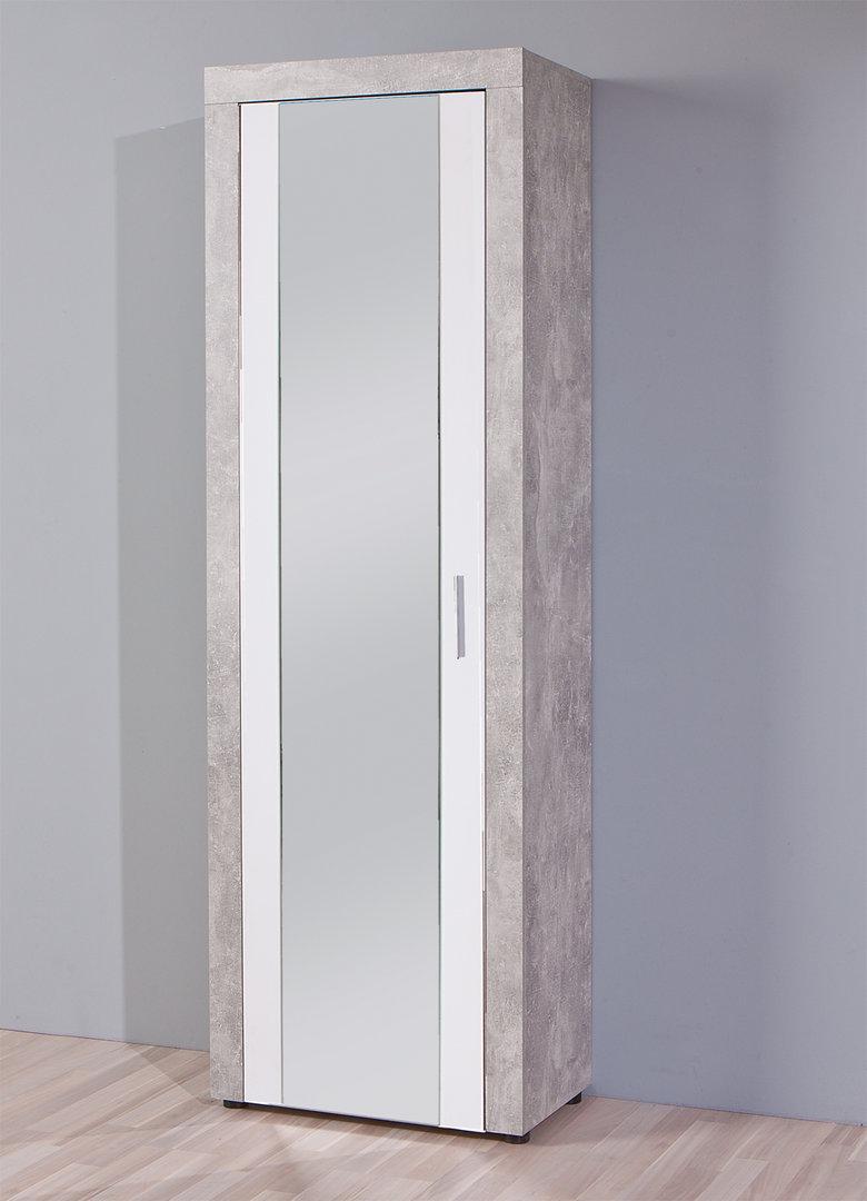 Armadio moderno cherry 83 entrata colore cemento bianco specchio - Armadio moderno design ...