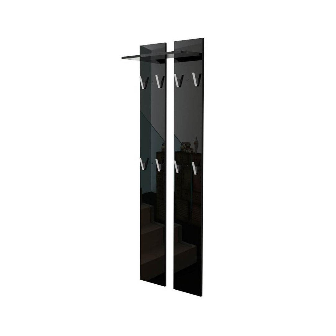 Pannello appendiabiti sedici mobile per ingresso e corridoio - Appendiabiti a parete moderni ...