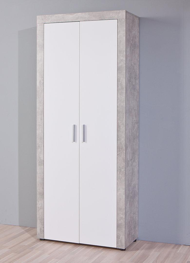 Cherry 85 armadio moderno mobile cemento e bianco a 2 ante - Armadio moderno design ...