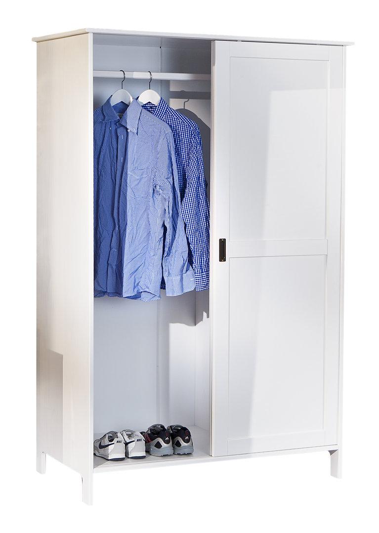Armadio bianco moderno slide 2 ante scorrevoli camera ingresso for Armadio da soggiorno