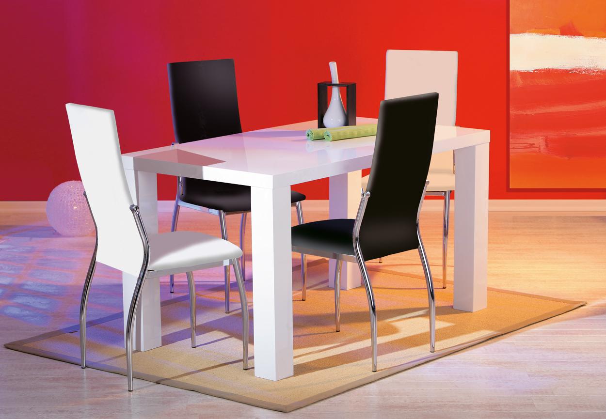 Tavolo moderno bianco moris mobile per cucina sala da pranzo - Mobile cucina bianco ...