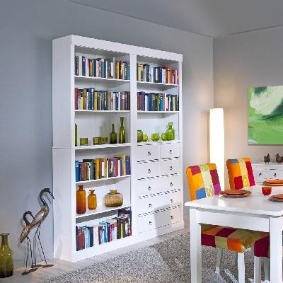 Libreria componibile aurora 22 mobile soggiorno cassettiera for Mobile scrivania libreria