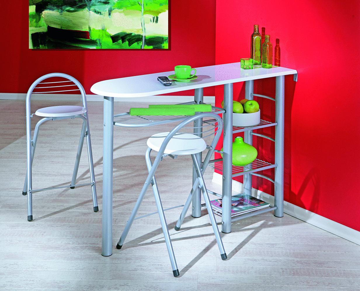Tavolo da colazione compact 43 tavolo da pranzo con due sedie - Table cuisine avec tabouret ...