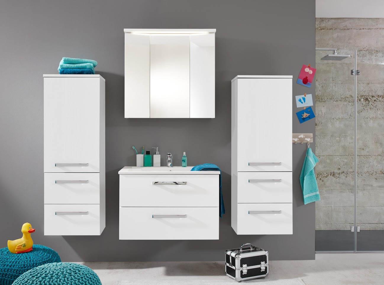 composizione per bagno abram mobili moderni in due colori. Black Bedroom Furniture Sets. Home Design Ideas