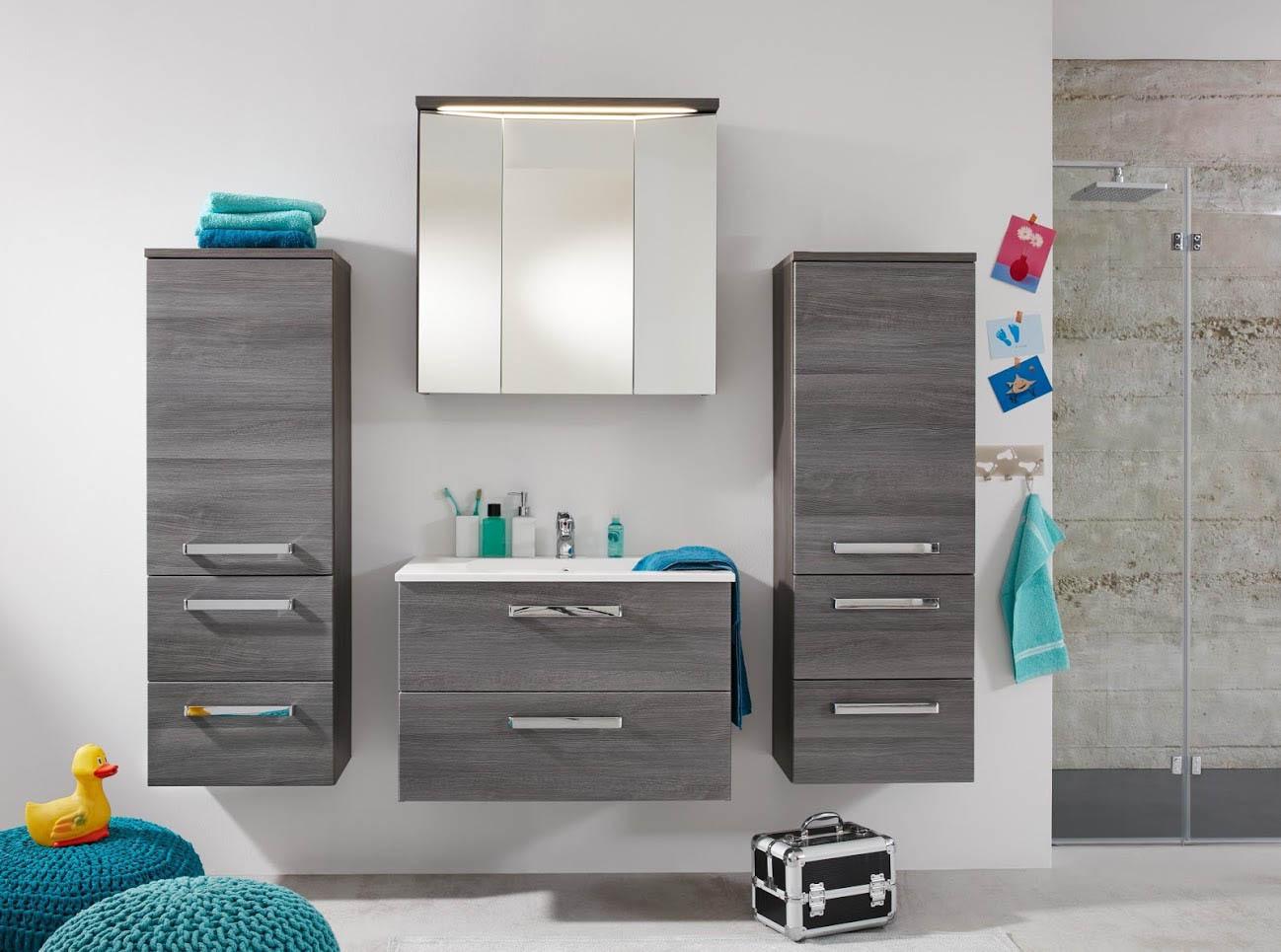 Composizione per bagno abram mobili moderni in due colori for Colori mobili moderni