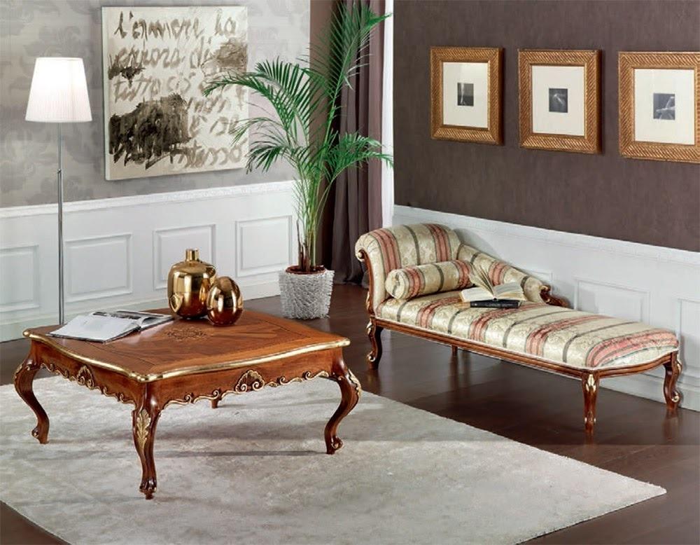 Tavolino rotondo da salotto in stile classico Art Decò L.104 H.50