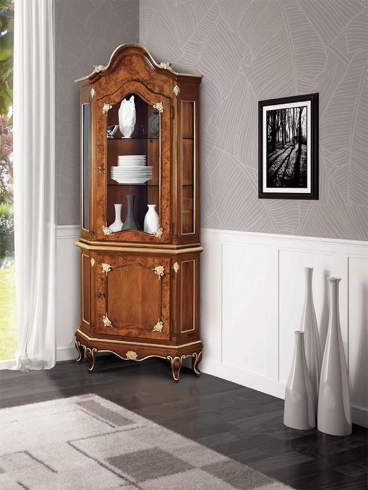 Vetrina Classica Soggiorno.Angoliera Sala Soggiorno Stile Classico Art Deco Con Vetrinetta