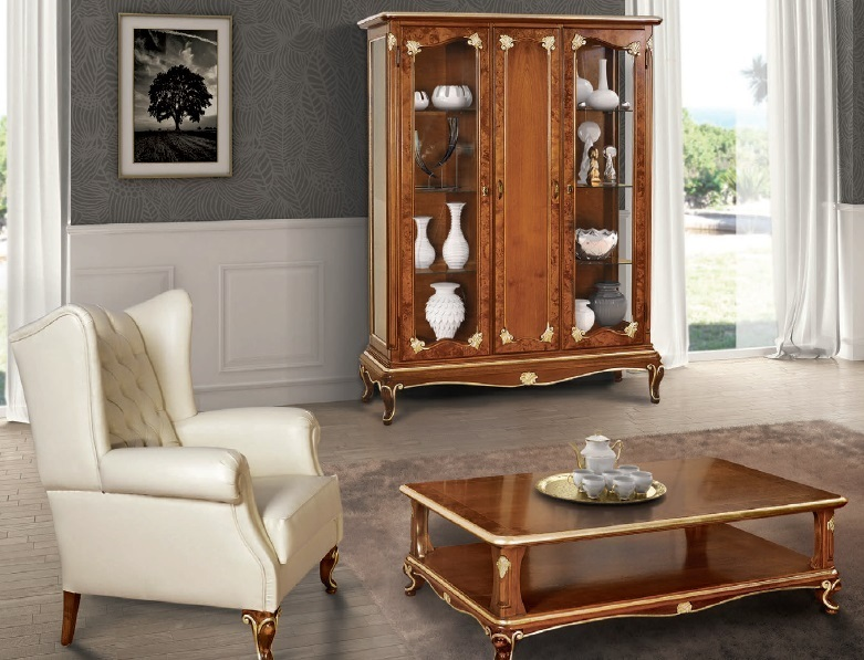Vetrina bar art dec vetrinetta in stile classico mobili - Mobili per sala classici ...