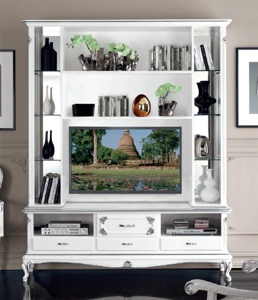 Parete Porta Tv In Stile Art Decò Mobile Soggiorno Credenza