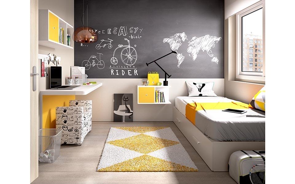 Cameretta colorata k 205 mobili per camera bambini e ragazzi for Mobile per bambini