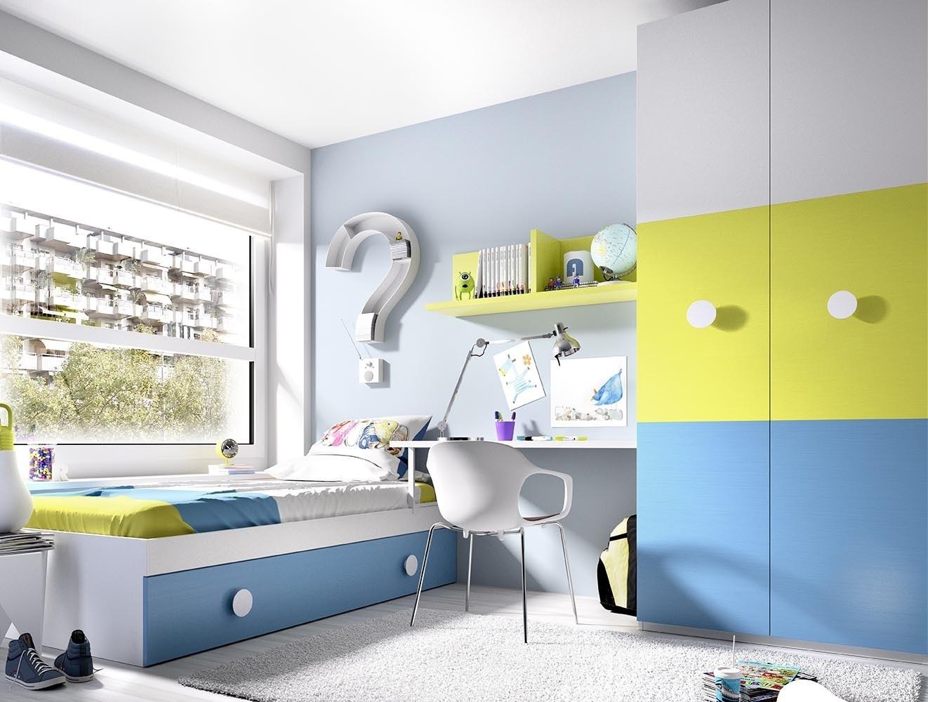 Camera Da Letto Moderna Colorata : Camera colorata e capiente k mobili bambini armadio