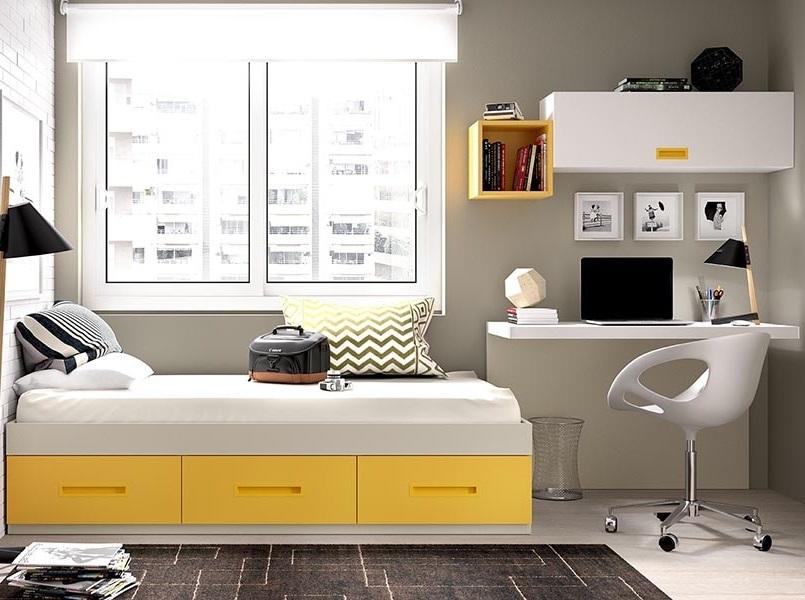 Mobili cameretta moderna k 213 letto scrivania e mensola for Mobili per bambini di design