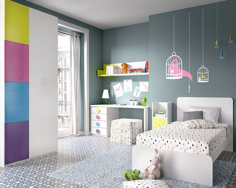 Armadio camera bambini cameretta con letto imbottito with - Cameretta mammut ikea ...