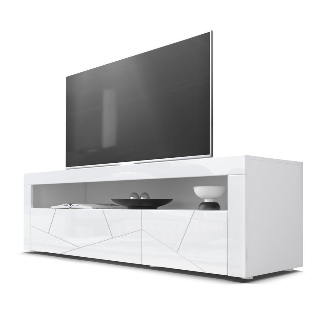 Mobile porta tv bianco giglio 3d frontali con disegno rilevo - Mobile porta tv bianco ikea ...