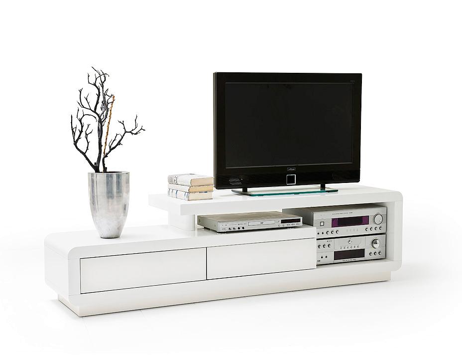 porta tv bianco alex, mobile per televisore moderno in 2 colori - Design Soggiorno Moderno 2