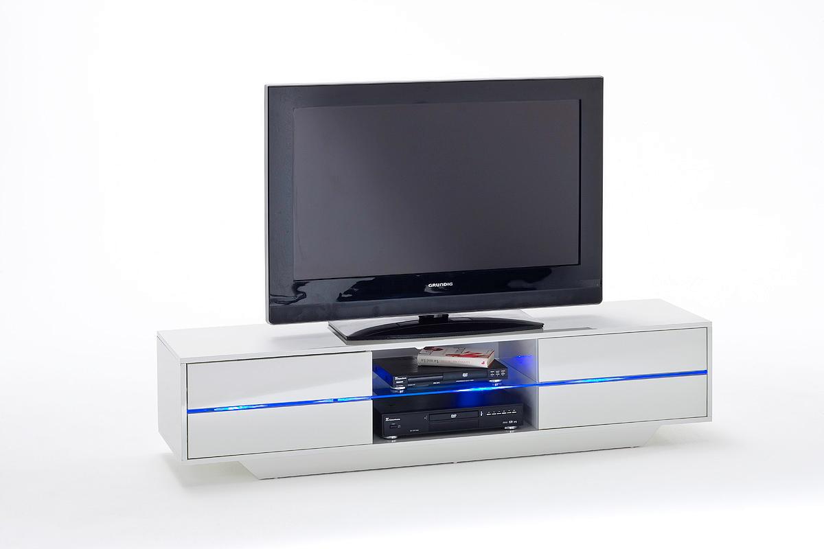 Mobile tv bianco con illuminazione led selfoss mobili tv 🏠 homelook