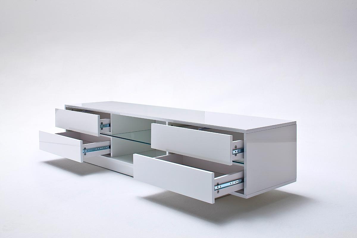 Porta tv moderno Press,mobile soggiorno bianco capiente