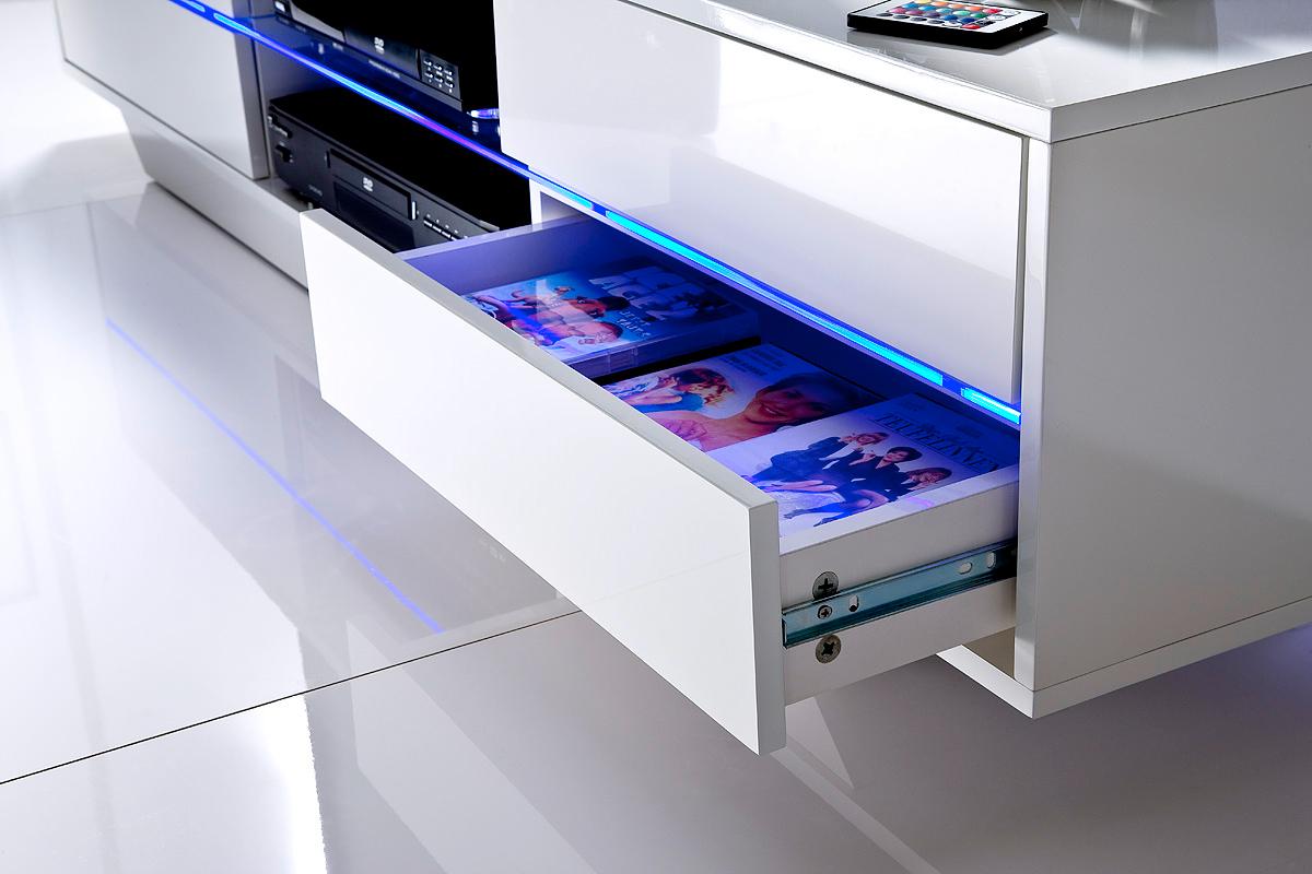 Porta tv moderno press mobile soggiorno bianco capiente for Mobile soggiorno moderno bianco