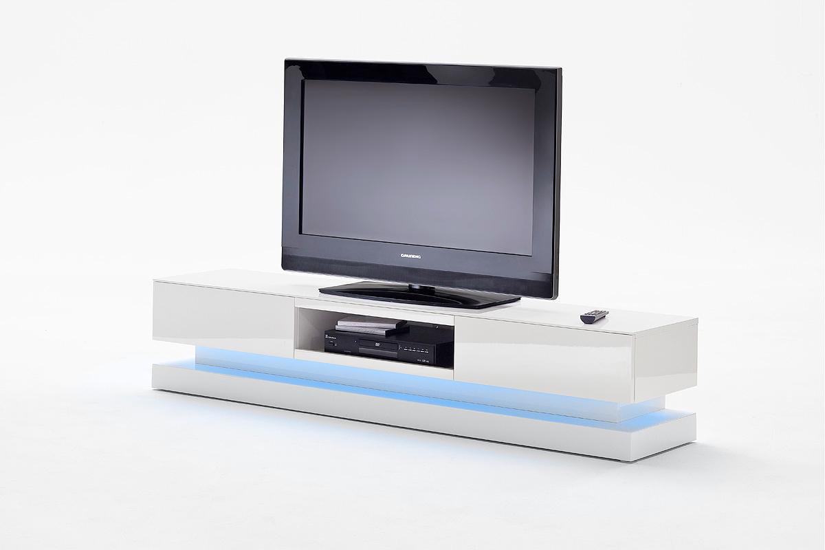 Porta tv bianco con led next mobile soggiorno particolare - Porta tv bianco ...