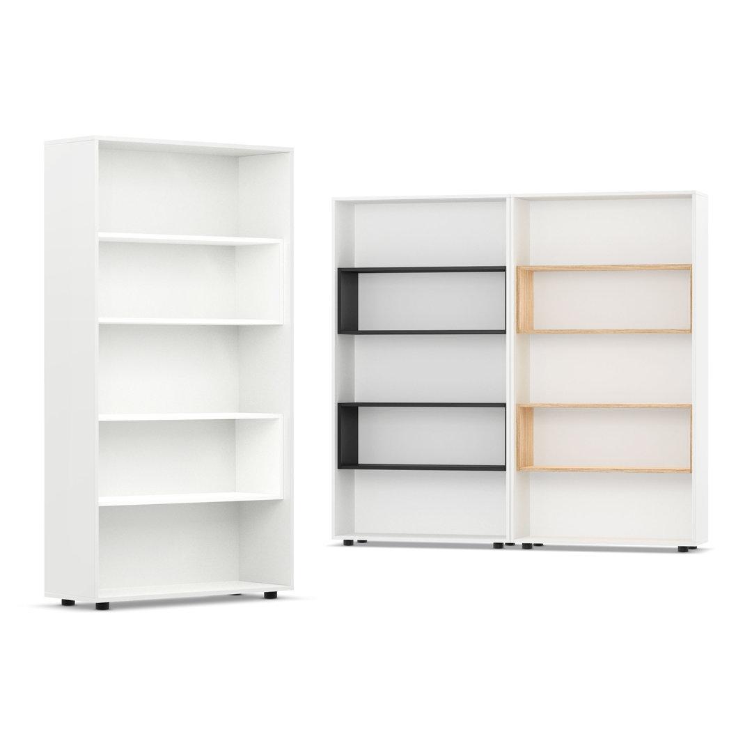 Libreria bianca design arredamento librerie on line mdf for Libreria a muro bianca