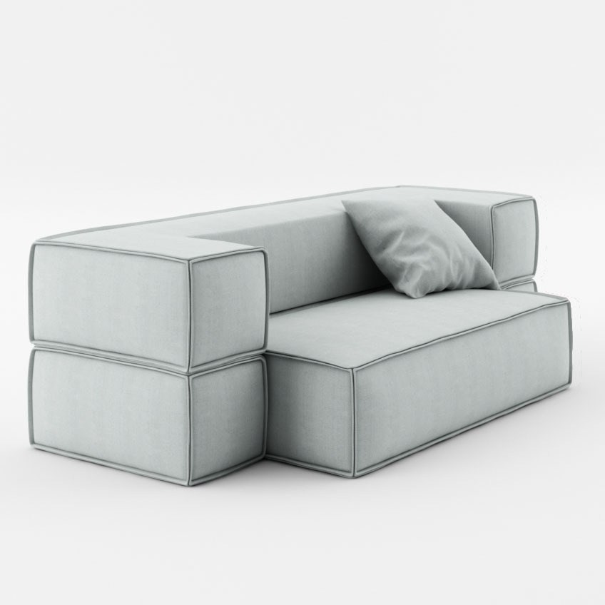 Divano letto moderno fernando l180 p90 h60 divani moderni for Divano letto moderno