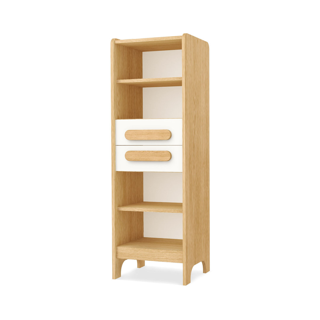 Libreria moderna francisco mobili materiali eco bianco e for Materiali mobili