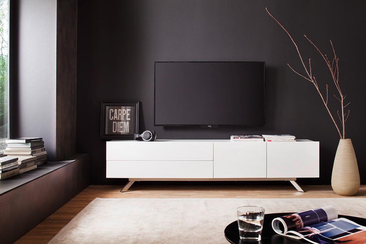 Mobile porta tv garden per soggiorno elegante bianco e for Soggiorno moderno elegante