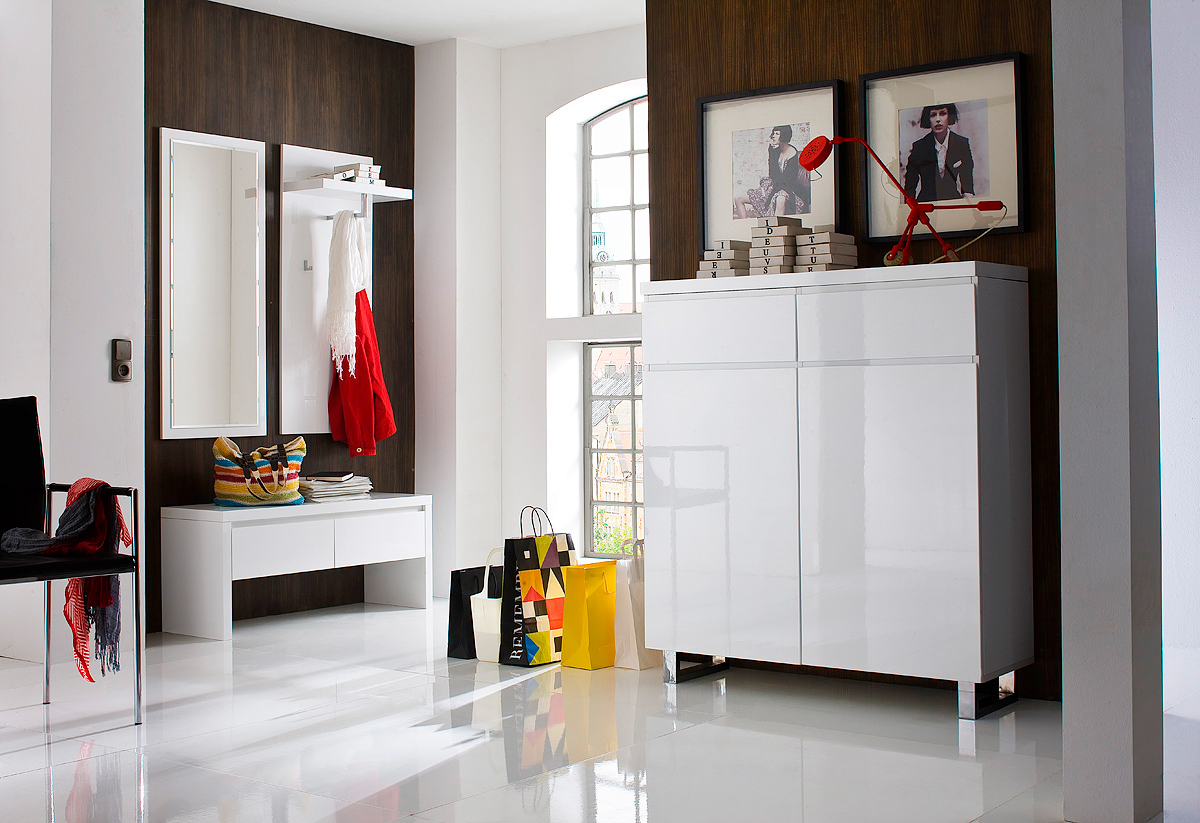 Entrata moderna melissa 44 mobili ingresso corridoio bianco - Mobili da corridoio ...