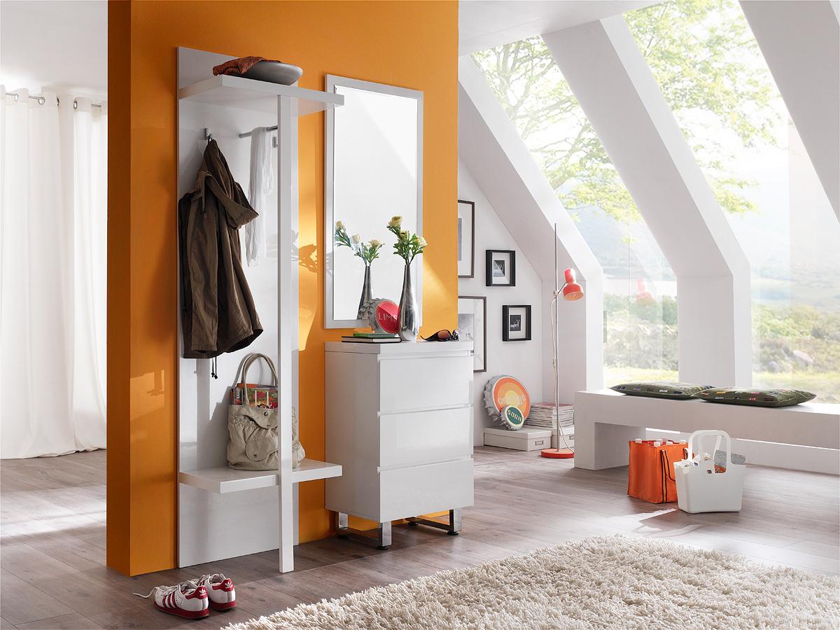 Entrata moderna melissa 55 mobile bianco ingresso specchio - Specchio intero ...
