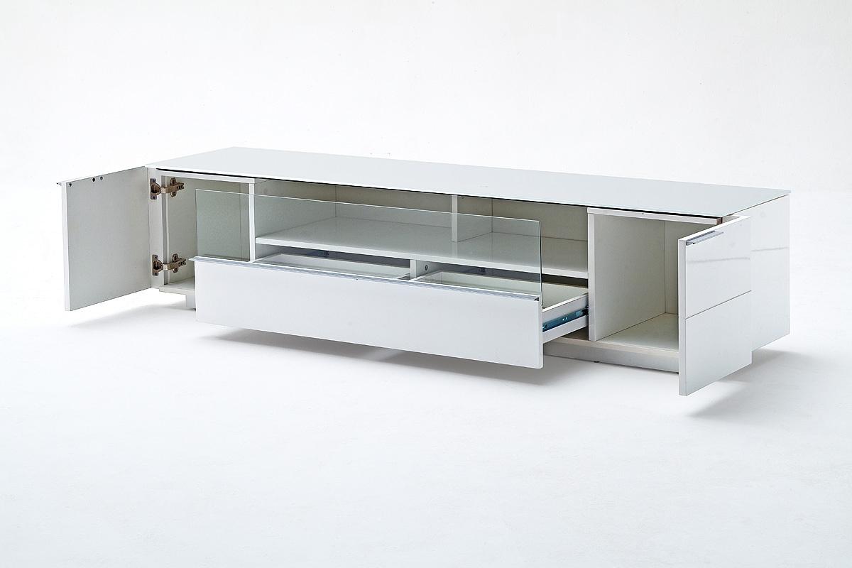 Porta tv moderno collezione gea mobile soggiorno bianco for Mobile soggiorno moderno bianco