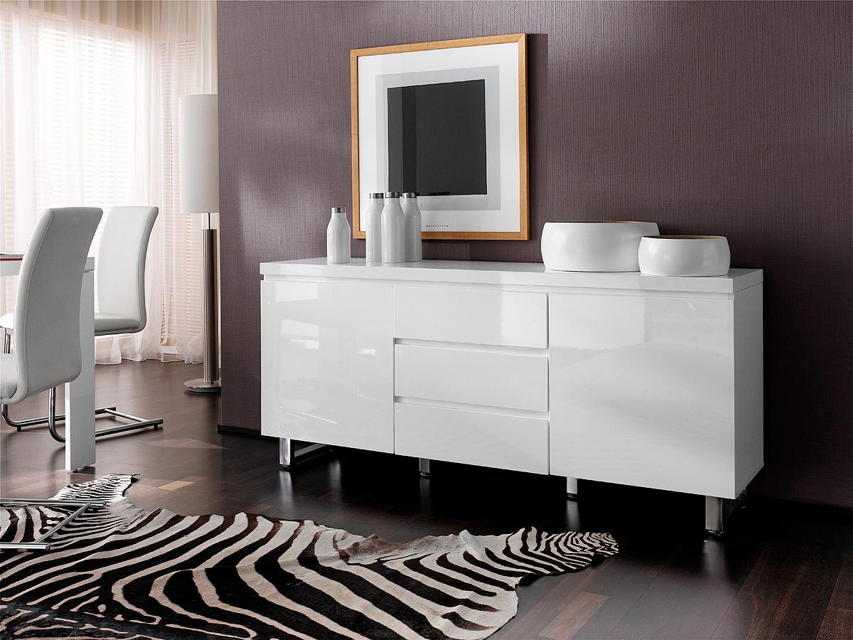 Madia bianca melissa credenza moderna mobile soggiorno - Credenza bianca ikea ...