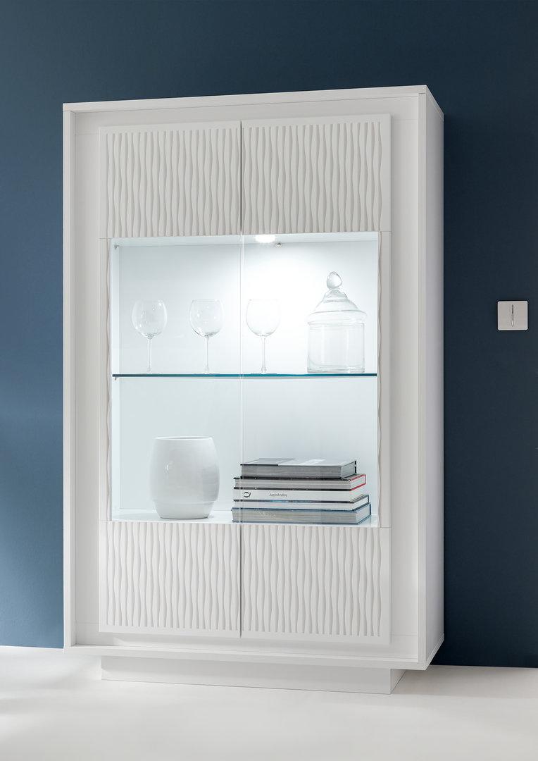 Vetrina moderna Dolce, mobile soggiorno sala con led, credenza in 7 ...