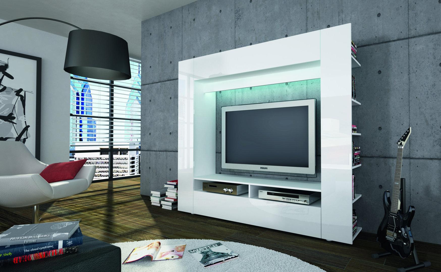 Porta tv grande King, parete soggiorno, mobile per tv in 5 ...