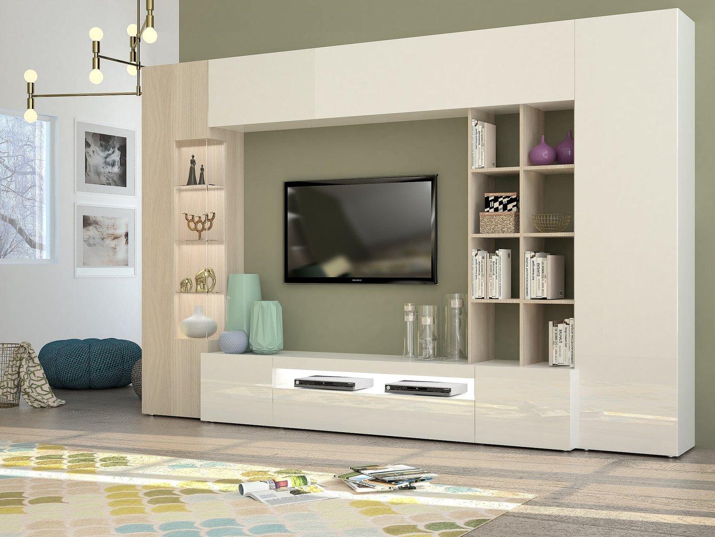 Soggiorno moderno parigi mobile porta tv composizione parete - Porta decoder da parete ...