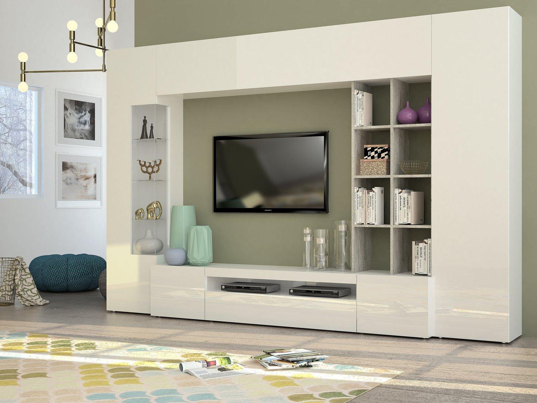 Soggiorno moderno Parigi, mobile porta tv,composizione parete