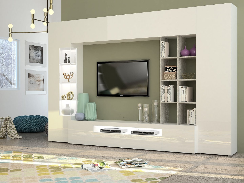 Soggiorno moderno parigi mobile porta tv composizione parete - Mobile soggiorno design ...