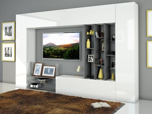 Pareti soggiorno arredions - Parete tv moderna ...